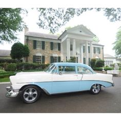 Elvis Presley's 1956 Chevrolet Bel Air at his Graceland home. Memphis, Tennessee.