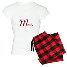 Red Mr and Mrs Pajamas Women's Light Pajamas