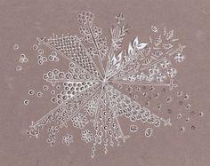 Efie goes Zentangle: art-tangle-club..sneeuwvlok