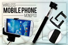 Monopod Selfie Stick with Built-In Remote for P1699 instead of P3500 - Take Great Photographs Wherever You Are