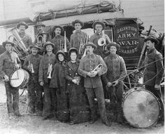 1892 Charioteers - On the way to hold mining camp tent meetings, The Salvation Army