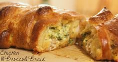I've been making this Chicken and Broccoli Braid for years- is such a yummy and deceptively easy meal!  That crescent roll braid is as delicious as it is pretty! @allrecipes