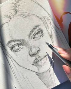 Cool Art Drawings, Pencil Art Drawings, Art Drawings Sketches, Realistic Drawings, Pencil Sketching, Drawing Faces, Art Illustrations, Tattoo Drawings, Arte Sketchbook