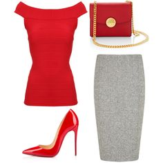 Outfit Idea by Polyvore Remix by polyvore-remix on Polyvore featuring polyvore fashion style Jane Norman Hobbs Christian Louboutin Marc Jacobs