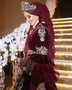 Muslim Wedding Dresses, Muslim Brides, Lovely Girl Image, Girls Image, Turkish Wedding Dress, Wedding Henna, Sneakers Fashion Outfits, Gala Dresses, Girl Hijab