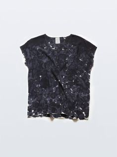 RACHEL ROSE, SILK TEE BLACK PETAL INKBLOT: she's got 16 styles in her shop right now, all are great but this one is my favorite. #rachel_rose #silk #top $78
