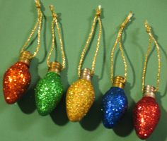 similar to Glittered Vintage Christmas Light Bulb Ornaments on Etsy - XmasItems similar to Glittered Vintage Christmas Light Bulb Ornaments on Etsy - Xmas Christmas House Lights, Vintage Christmas Lights, Christmas Light Bulbs, Xmas Lights, Retro Christmas, Christmas Craft Projects, Christmas Ornament Crafts, Light Bulb Crafts, Vintage Wedding Cards