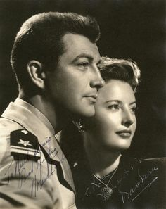 Robert Taylor and Barbara Stanwyck