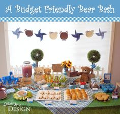 These Bear Party ideas are all budget-friendly and so easy to put together. Perfect for a birthday party or a baby shower. Adorable DIY ideas here!