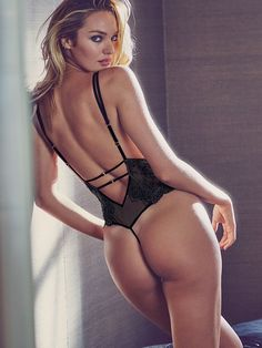 Chantilly Lace Plunge Teddy - Very Sexy - Victoria's Secret - Candice Swanepoel