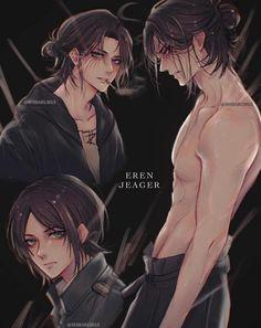 Eren E Levi, Attack On Titan Eren, Attack On Titan Fanart, Fanarts Anime, Anime Characters, Attack On Titan Aesthetic, Familia Anime, Anime Lindo, Blue Exorcist