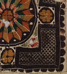 Textile fragment, Coptic Egypt, 3rd–4th century - Source: The Metropolitan Museum of Art