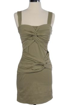 I wasn't sure at first glance, but I feel like it could work?  Twisted Over You Pale Green Dress