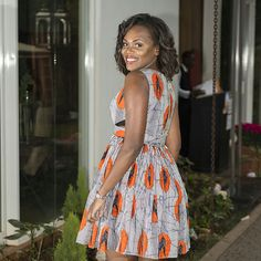 DAY 5: THE CUT-OUT FIT & FLARE DRESS | Diana Opoti's 100 Days Of African Fashion