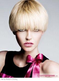 Stylish Short Round Crop Hair Style