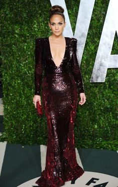 Jennifer Lopez Beaded Dress J.Lo opted for another sexy ensemble, wearing a plunging sequined dress.   Brand: Zuhair Murad
