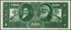 1896 $2 Silver Certificate Educational - Robert Fulton and Samuel F.B. Morse