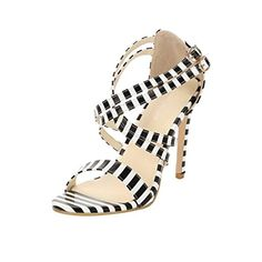 bf32289dd434 Check out these sexy Womens Sexy Open Toe Ankle Strap Pumps High Heel Dress  Sandals for