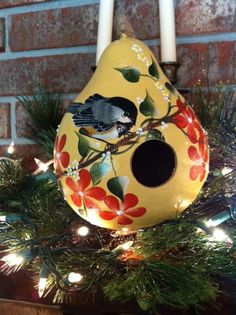 gourd birdhouses | Gourd Birdhouse Handpainted With A Beautiful by gourdartistIam