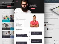 Resume Website Template Ph Cv  Psd Template  Free Psd Templates  Pinterest  Psd