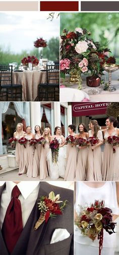Winter Wedding Color Schemes To Excite You Best Picture For elegant wedding colors For Your Taste Yo Gray Wedding Colors, Winter Wedding Colors, Burgundy And Grey Wedding, Grey Wedding Theme, Spring Wedding, Fall Wedding Themes, Wedding Color Palettes, Wedding Colors For September, Wedding Ideas For Fall