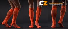 The brand new Compression Zone Performance Socks from Italy!