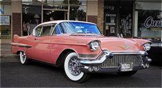 1957 pink cadillac coupe de ville