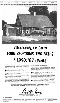 1960  first house,  $19,000.   Payments  $118.00