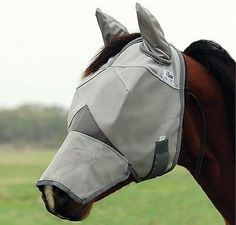 Fly Masks 167251: Cashel Crusader Long Nose Fly Mask With Ears Grey Horse BUY IT NOW ONLY: $37.69