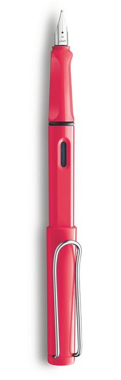 The newly announced 2014 Special Edition Lamy Safari in Neon Coral. Starting at $29.60. Please someone take me to a beach right now. Writing Art, Writing Pens, Writing Paper, Pen Collection, Fountain Pen Ink, Pen And Paper, Writing Instruments, Safari, Stationery