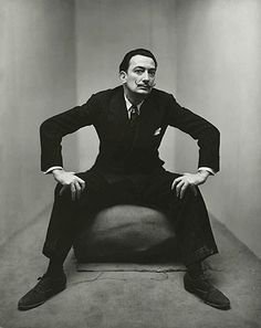 Salvador Dali by Irving Penn, 1947.