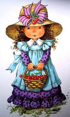 quenalbertini: Mary May Art Cute Images, Cute Pictures, Mary May, Cute Clipart, Holly Hobbie, Polychromos, Illustrations, Cute Illustration, Fabric Painting