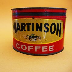 Martinson Coffee Tin by UncommonShop on Etsy