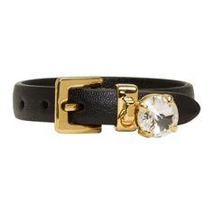 MIU MIU Black Rhinestone Charm Bracelet. #miumiu #