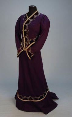Historical Dress - APPLIQUED WOOL PROMENADE SUIT with SOUTACHE, c....