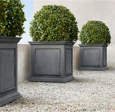 RH's Estate Zinc Framed Panel Planter :Recalling pots from 19th-century English and Belgian estate gardens, these stately planters are crafted in a family-owned workshop in Bulgaria.