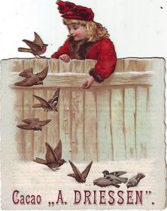 cacao driessen - girl feeding birds - cut-out | Flickr - Photo Sharing!