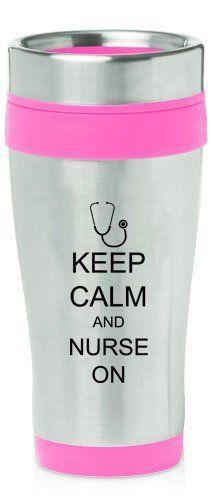 Hot Pink 16oz Insulated Stainless Steel Travel Mug Z470 Keep Calm and Nurse On Stethoscope MIP,http://www.amazon.com/dp/B00DUL8XGE/ref=cm_sw_r_pi_dp_SQTGtb0CNZTABBP3