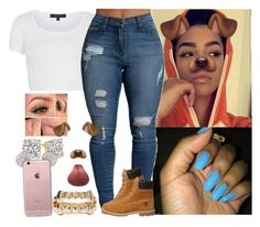 """""""Top"""" by saucinonyou999 ❤ liked on Polyvore featuring Topshop and Timberland"""
