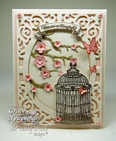 Stamps - Our Daily Bread Designs Banner Sentiments, To The Lovebirds, ODBD Custom Bird Cage and Banner Dies