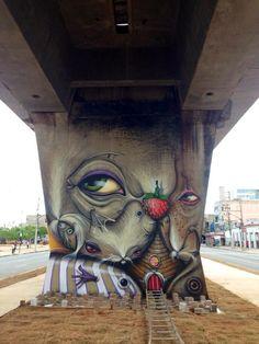 That's Andre Muniz Gonzaga Best Street Art, Amazing Street Art, 3d Street Art, Street Art Graffiti, Street Artists, Awesome Art, Graffiti Murals, Murals Street Art, Mural Art