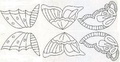 Patterns for making icing butterflies from http://www.sugarcraft.com