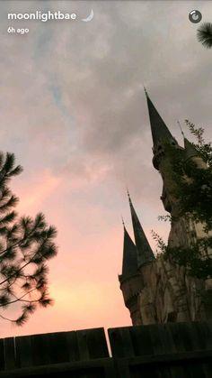 When the pretty sky meets the prettier castle 😍