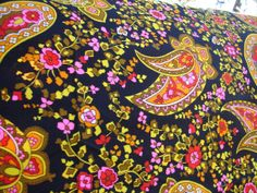 Paisley Fabric Supply Vintage 1960s/1970s by NopalitoVintageMore, $16.00