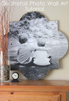 Quatrefoil Photo Wall Art Tutorial - DIY on the Cheap