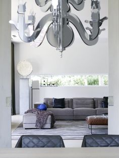 Piet Boon Styling by Karin Meyn | Grey toned interior. Kekke chair and Dieke Sofa with pouf - Piet Boon Collection.