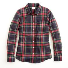 J.Crew Factory classic button-down in plaid