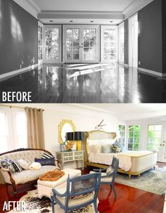 Improve Your Space With These Simple Home Improvement Tips – Live Like Home Bedroom Makeover Before And After, Master Bedroom Makeover, Mr Kate, Room Setup, Simple House, Home Improvement Projects, New Room, White Walls, New Homes
