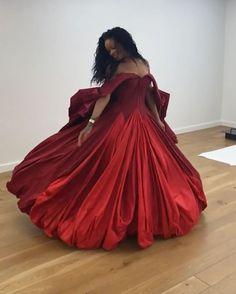 Rihanna Fenty Puma Zac Posen Video Dress Twirl