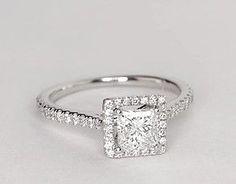 Princess Cut Halo Diamond Enement Rings | 7 Best Princess Cut Halo Ring Images Jewelry Boyfriends